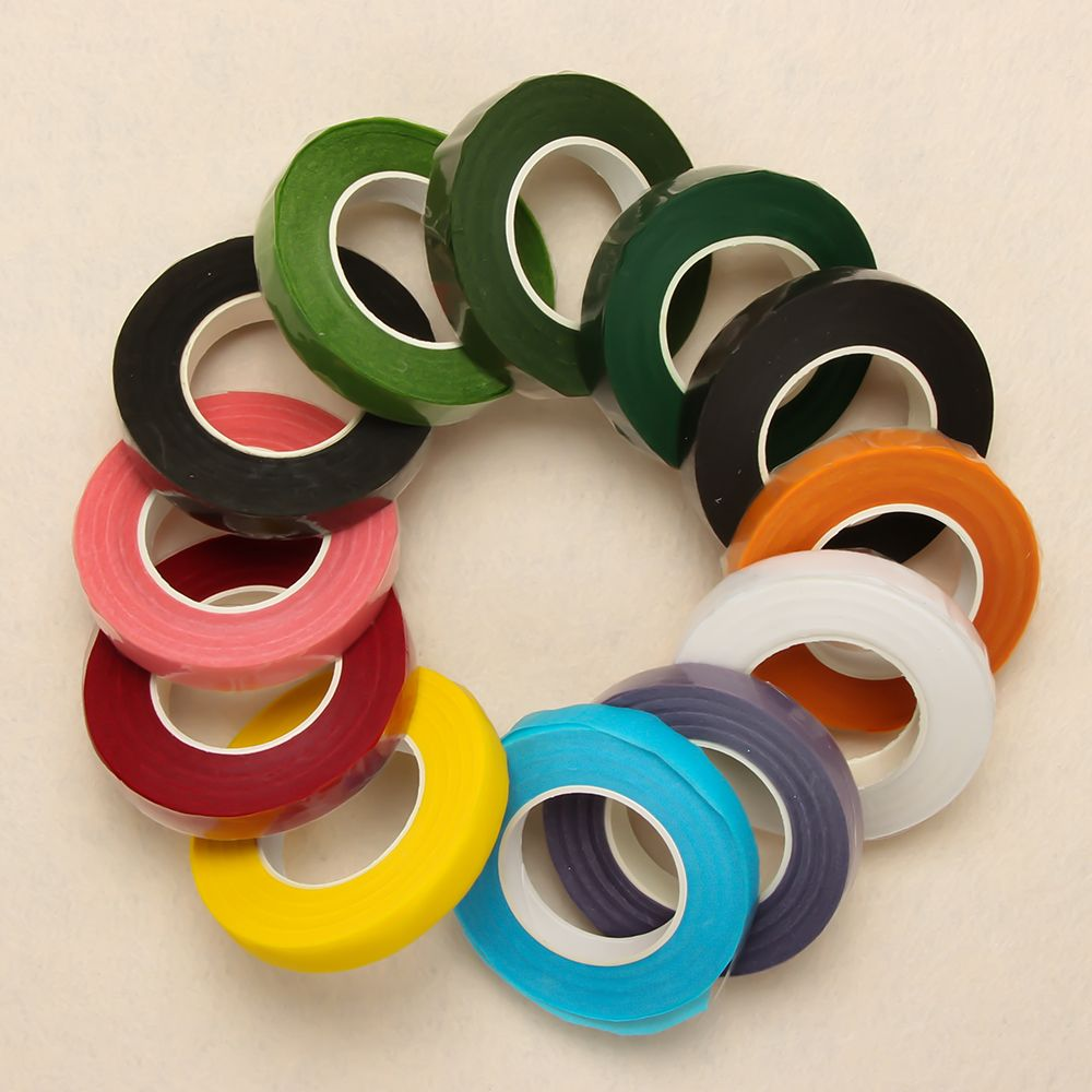 New 25M Paper Garland Tape Artificial Flower Fixed Supplies For Wedding Decoration DIY Wreath Flores Garland Supplies Tape Glue