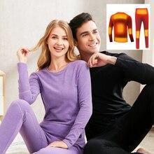 Pants Underwear-Set Heating Winter USB Motorcycle-Jacket Battery-Powered Temperature