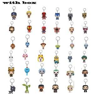 MARVEL Keychain FORKY Super Hero HULK GOKU RICK DOBBY Anime Characters Figure Collectible Model Toys With Box(China)