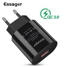 Essager quick charge 3.0 зарядное устройство usb QC3.0 ЕС зарядник для huawei Коврики 20 samsung A50 Xiaomi Mi 9 универсальнаябыстрая зарядка