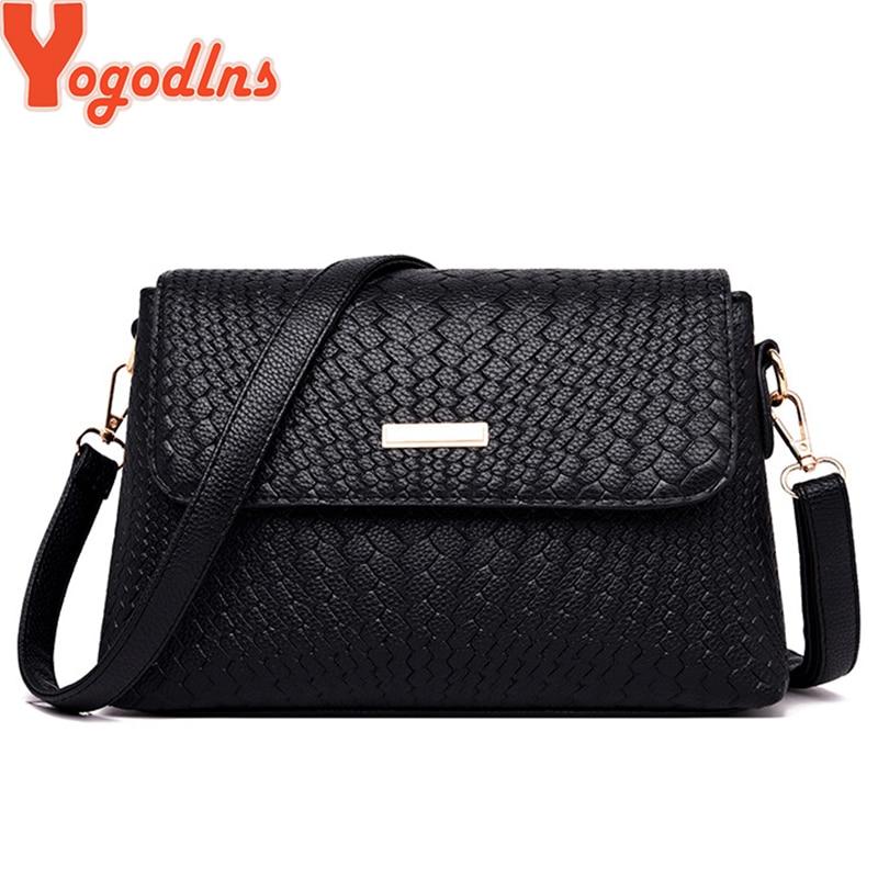 Yogodlns Women Shoulder Bags Small Satchel Simple Design Female Crossbody Bag Soft PU Leather Flap Bag  Messenger Bags Sac Femme