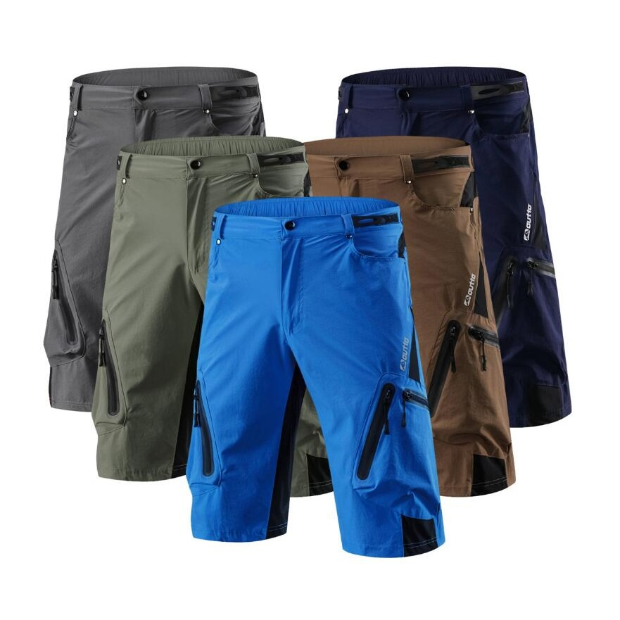 7 colors Men breathable MTB Cycling Shorts Pro Mountain Bike Loose Outdoor Downhill Shorts Riding Road Bike Short Trousers 1202