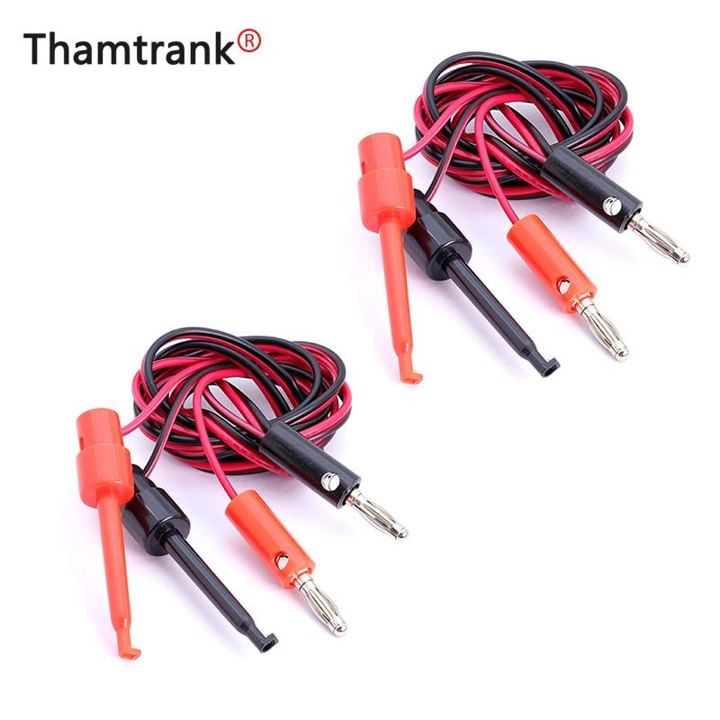 Câble à fiche banane noir et rouge de 100cm, 1 pièce, 4mm, pour câble double grand crochet de Test, Clip Alligator noir et rouge
