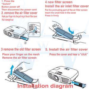 Image 5 - 新ブランドプロジェクター防塵ネットエアフィルターネット ELPAF21 ため EH TW2800 EH TW2900 EH TW300 EH TW3800 EH TW4000 EH TW4500