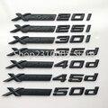 Volle Matte Schwarz XDrive 20d 25d 30d 35d 40d 45d 50d XDrive 20i 25i 28i 30i 35i 40i 50i Auto fender Emblem Abzeichen Aufkleber für BMW
