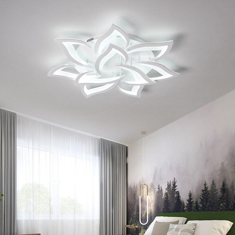 Image 3 - New led Chandelier For Living Room Bedroom Home chandelier by sala Modern decor  Led Ceiling Chandelier Lamp Lighting chandelier-in Chandeliers from Lights & Lighting