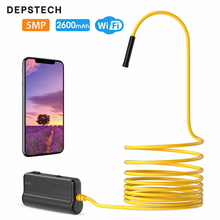 DEPSTECH WF028 8.5mm WIFI Endoscope Camera Flexible IP67 Waterproof Inspection Borescope Camera for Android PC 6 LEDs Adjustable