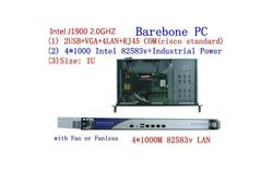 Celeron J1900 Quad Core 1U Firewall Router precio de fábrica pc J1900 firewall pc 4 lan computadora 1u servidor con 8G RAM 32G SSD