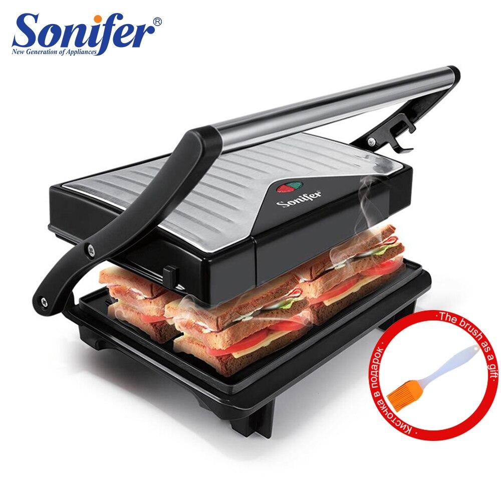 Электрический гриль мульти пекарь 750 Вт машина для барбекю кухонная машина для барбекю гриль бездымного мяса на гриле выпечки блинов Sonifer