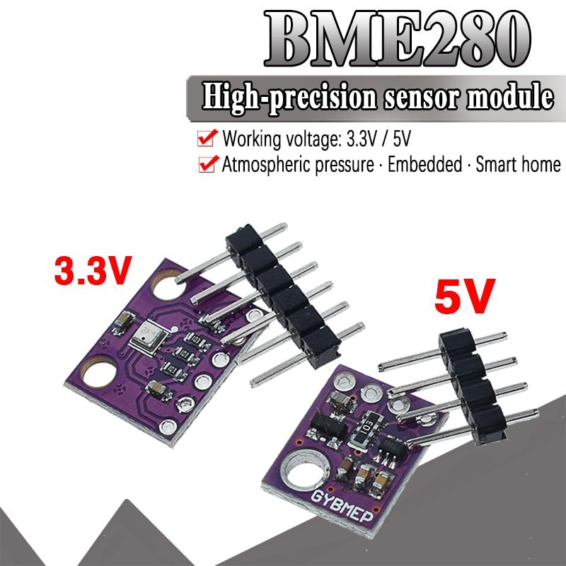 Official GY-BME280-3.3 BME280 5V 3.3V Digital Sensor Temperature Humidity Barometric Pressure Sensor Module I2C SPI 1.8-5V