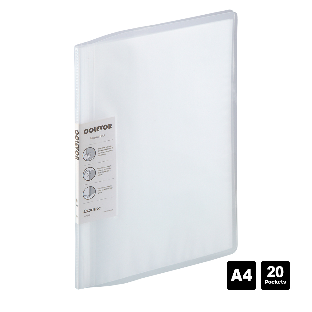 Comix A4 Display Book 20/60 Page Transparent Insert Folder Document Storage Bag For Bank Campus File Office Workplace Family