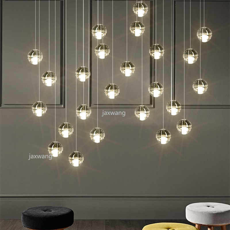 Beautiful Crystal Ball Pendant Lights For Indoor Led Pendant Lamp With Hanging Crystal Round Balls Pendant Light Muti Heads Pendant Lights Aliexpress