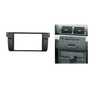 Image 5 - One or Double Din Radio fascias for BMW 3 Series E46 1998 2005 DVD Stereo Panel Dash Mount Refitting Trim Kit Frame CD Bezel