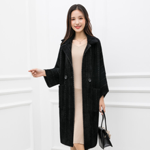 2020 Cardigan Coat Soft Velvet Sweaters New Faux Velvet Hooded Thicken Jacket Hooded Women Autumn Knitted Sweater DA981(China)