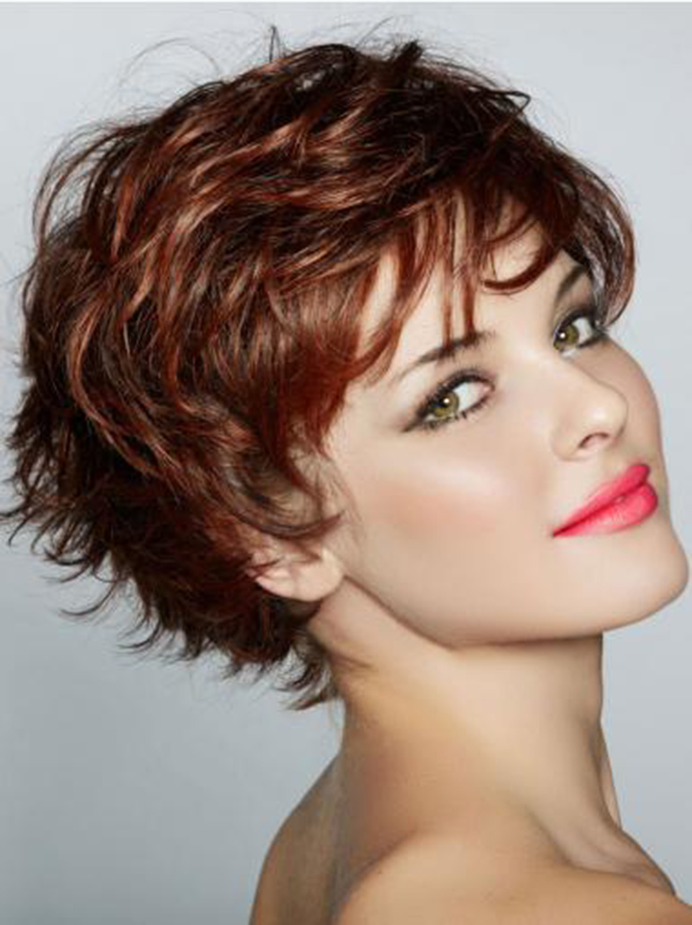 Capless Human Hair blend wig short Wavy Stylish 9.25 Inch Wigs costume wig for white women