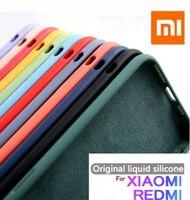 Orijinal kadife sıvı silikon kılıf için Xiaomi Redmi not 10 Pro Max 6 7 8 9S 9 K30 Mi 9 10 A3 9T not 10 Lite kılıf arka kapak