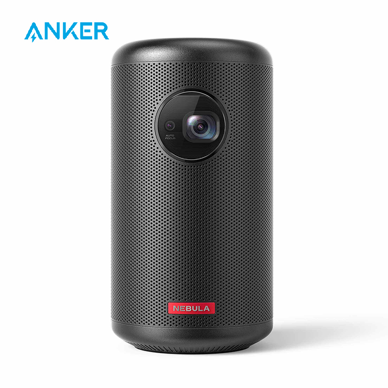 Nebula Capsule II Smart Mini Projector, By Anker, Palm-Sized 200 ANSI Lumen 720p HD Portable Projector Pocket Cinema With Wi-Fi
