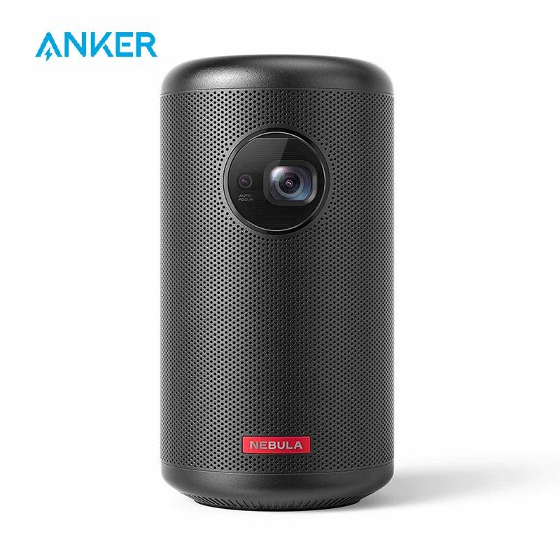 Nebulosa capsule ii mini projetor inteligente, por anker, palm-sized 200 ansi lumen 720p hd portátil projetor bolso cinema com wi-fi