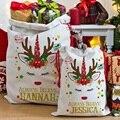 Рождественский подарок мешок Единорог шнурок мешок Рождество мешок WB1106
