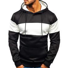 2019 novos hoodies listrado hoodies dos homens do esporte com capuz pulôver hip hop moletom de treino dos homens vestuário S-XXXL