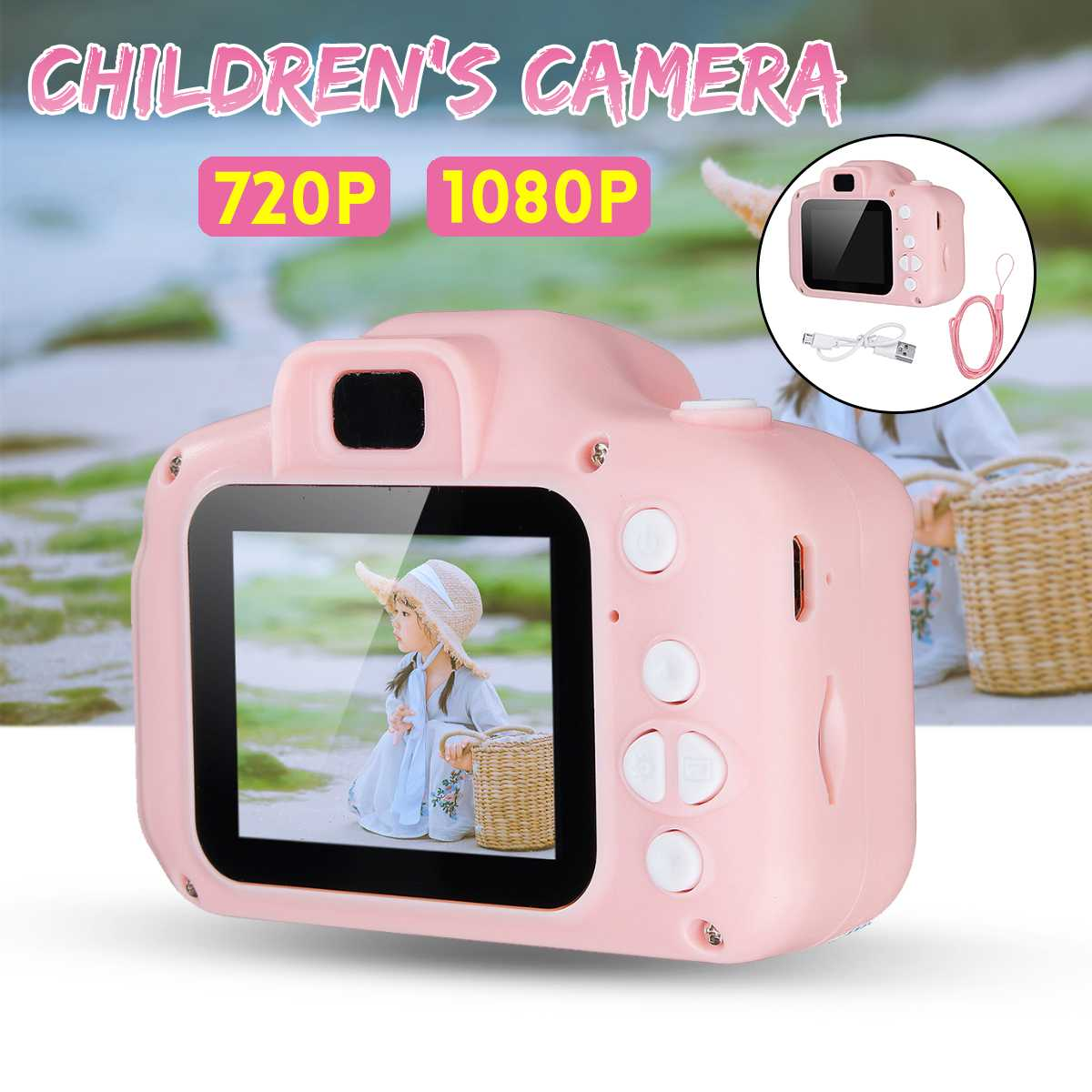 720P/1080P Children Mini Camera Kids Educational Toys For Children Birthday Gift Digital Camera 1080P Projection Video Camera