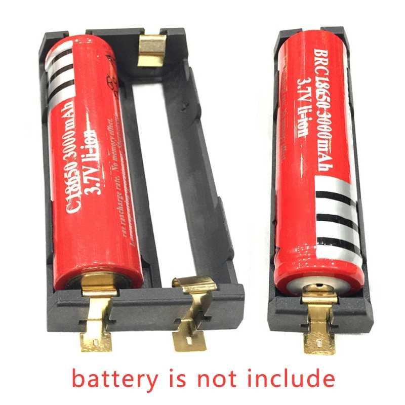 1X2X18650 Batterie Della Serie Holder Box Caso di Immagazzinaggio Contenitore con Il Bronzo Spilli 634A