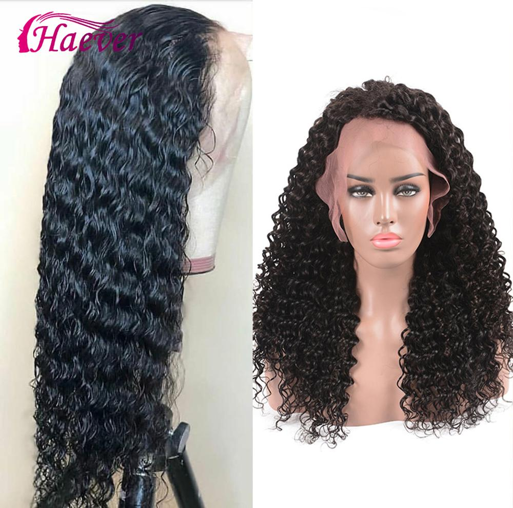 Haever 180% Density Wig Lace Front Human Hair Wigs Deep Wave 13X4 Peruvian Remy Wig Bleached Pre Plucked Virgin Hair New Hair