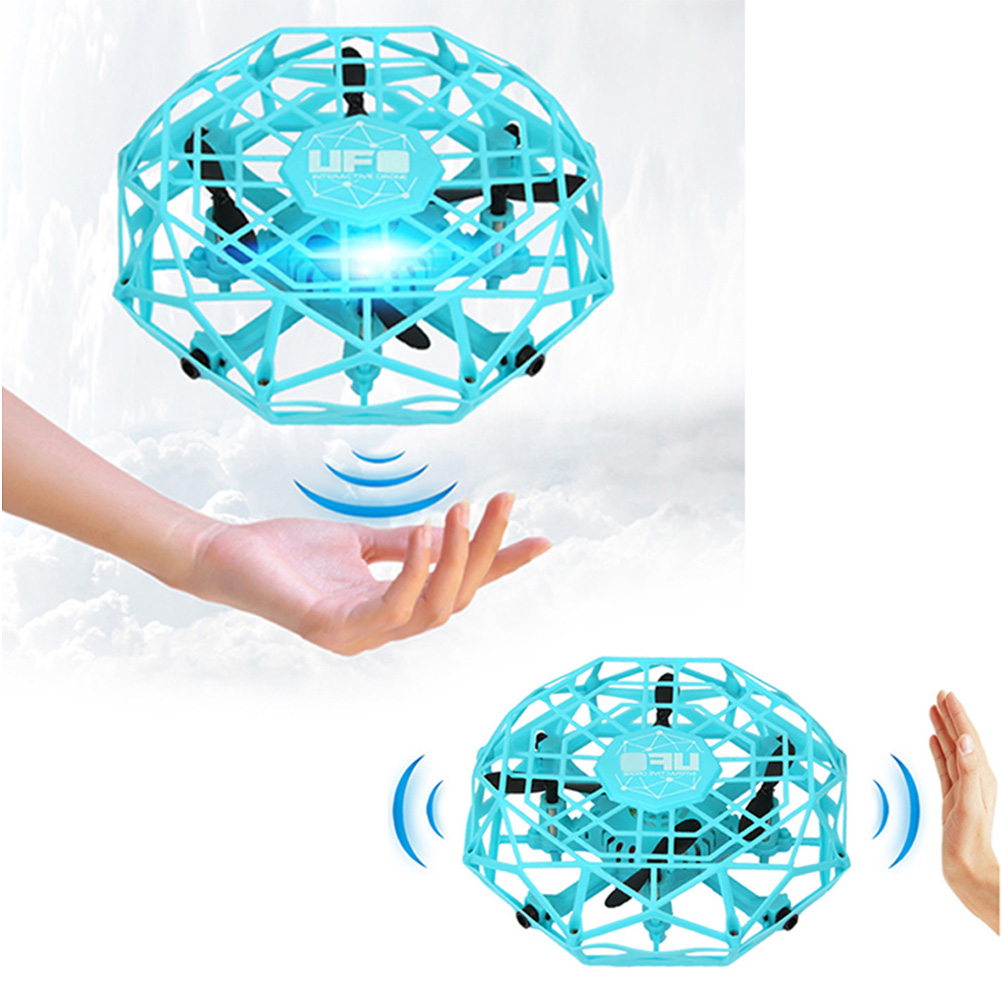 Fun Gesture Induction Flying Saucer UFO Toys Four-axis Induction Vehicle Child Flying Helicopter Aircraft With Light Toy Gift