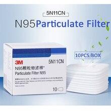 Респиратор для защиты от пыли, фильтр из хлопка, респиратор для замены, 3 м, 5N11, Серия 6000, 7000, 10 шт.
