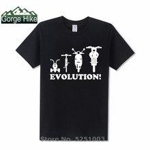 Novedad juventud T Shirt de la evolución de un triciclo bicicleta moto Camiseta de manga corta de los hombres de cuello redondo de algodón camiseta top