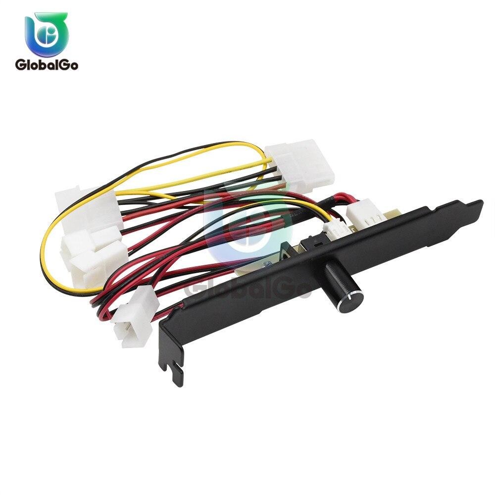 3 canales PC ventilador de refrigeración controlador de velocidad para CPU regulación de Control de temperatura 12V 3 pines