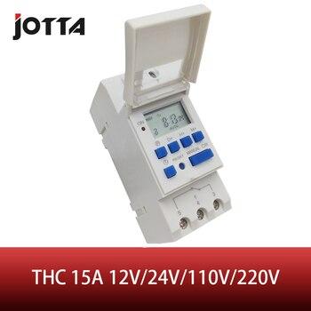 Digital programable interruptor de Tiempo semanal de LCD digital thc 15A 12V 24V 110V 220V