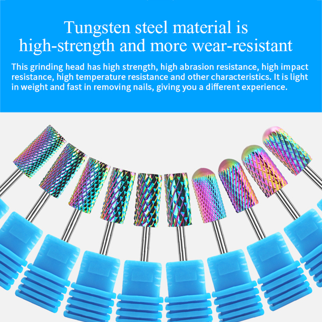 BORN PRETTY Electric Nail Drill Bits Milling Cutter Tungsten Steel Grinding Polishing Nail Files Pedicure  Nail Tool 1