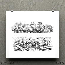 ZhuoAng Grove Model Clear Stamps For DIY Scrapbooking/Card Making Decorative Silicon Stamp Crafts