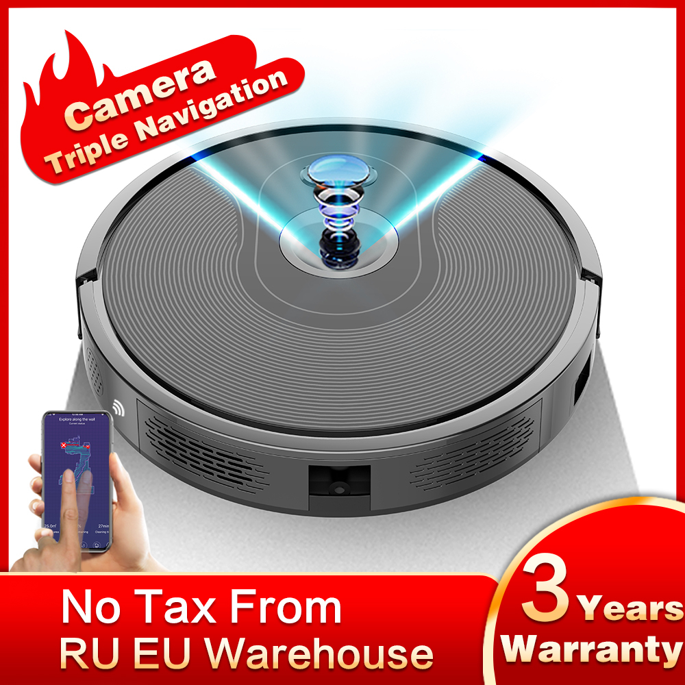 ABIR X6 Robot Vacuum Cleaner with Camera Navigation,WIFI APP controlled,Breakpoint Continue Cleaning,Draw Cleaning Area,Save Map(China)