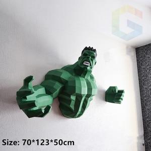 Звездные войны бюст 3D бумажная модель Халк бумажные ремесленные игрушки домашний декор настенные украшения Пазлы образовательные DIY игруш...