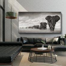 Африканские слоны Картина на холсте дикие животные скандинавиа