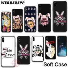 WEBBEDEPP 8N Bad Bunny Soft Phone Case for iPhone X XR XS 11Pro Max 7 8 6S Plus 5S SE 8Plus 7Plus 11 Pro Max Cases
