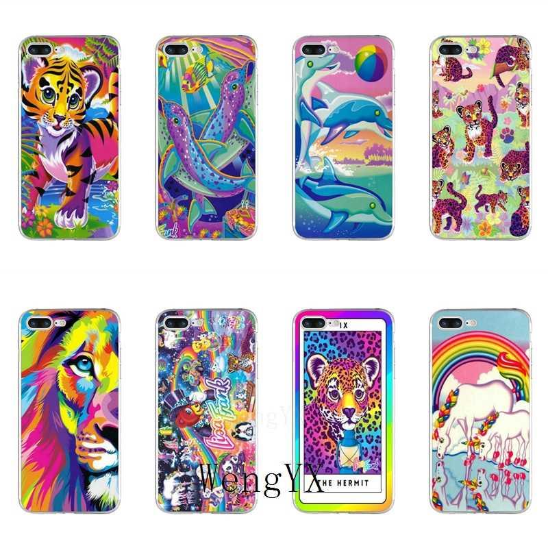 Kleuren Lisa Frank Tijger Paard Hond Kat Case Voor Samsung Galaxy S10e Lite S9 S8 S7 S6 Rand Plus S5 s4 S3 Note 10 9 8 5 4 Mini