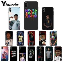Yinuoda Youngboy Never Broke Again Black TPU Soft Phone Case Cover for Apple iPhone 8 7 6 6S Plus X XS MAX 5 5S SE XR Cover never broke again youngboy pop rapper case for iphone 11 pro xs max xr x 6 6s 7 8 plus 5s se black soft tpu silicone phone cases