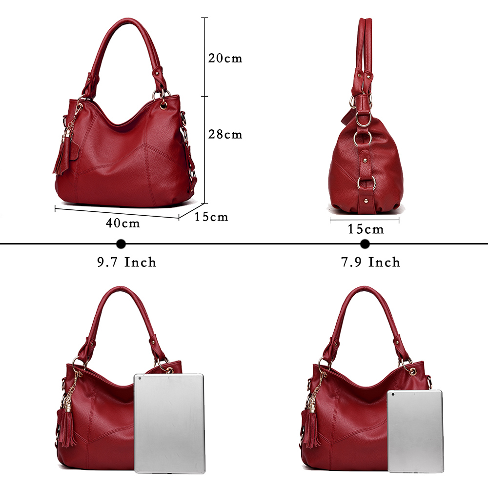 Image 3 - Lanzhixin Women Leather Handbags Women Messenger Bags Designer Crossbody Bag Women Tote Shoulder Bag Top handle Bags Vintage 518-in Shoulder Bags from Luggage & Bags