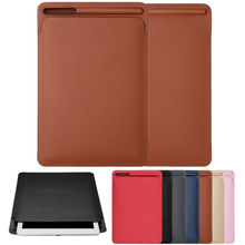 Case Cover Tas Leather Sleeve Voor Ipad Pro 12.9Inch 2020 & Storage Pouch Voor Apple Potlood(China)