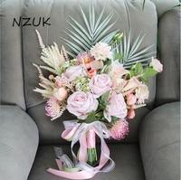 Handmade Wedding Bouquet Artificial Flower Rose Bouquet Bridal Bouquet For Wedding Decoration SPH046