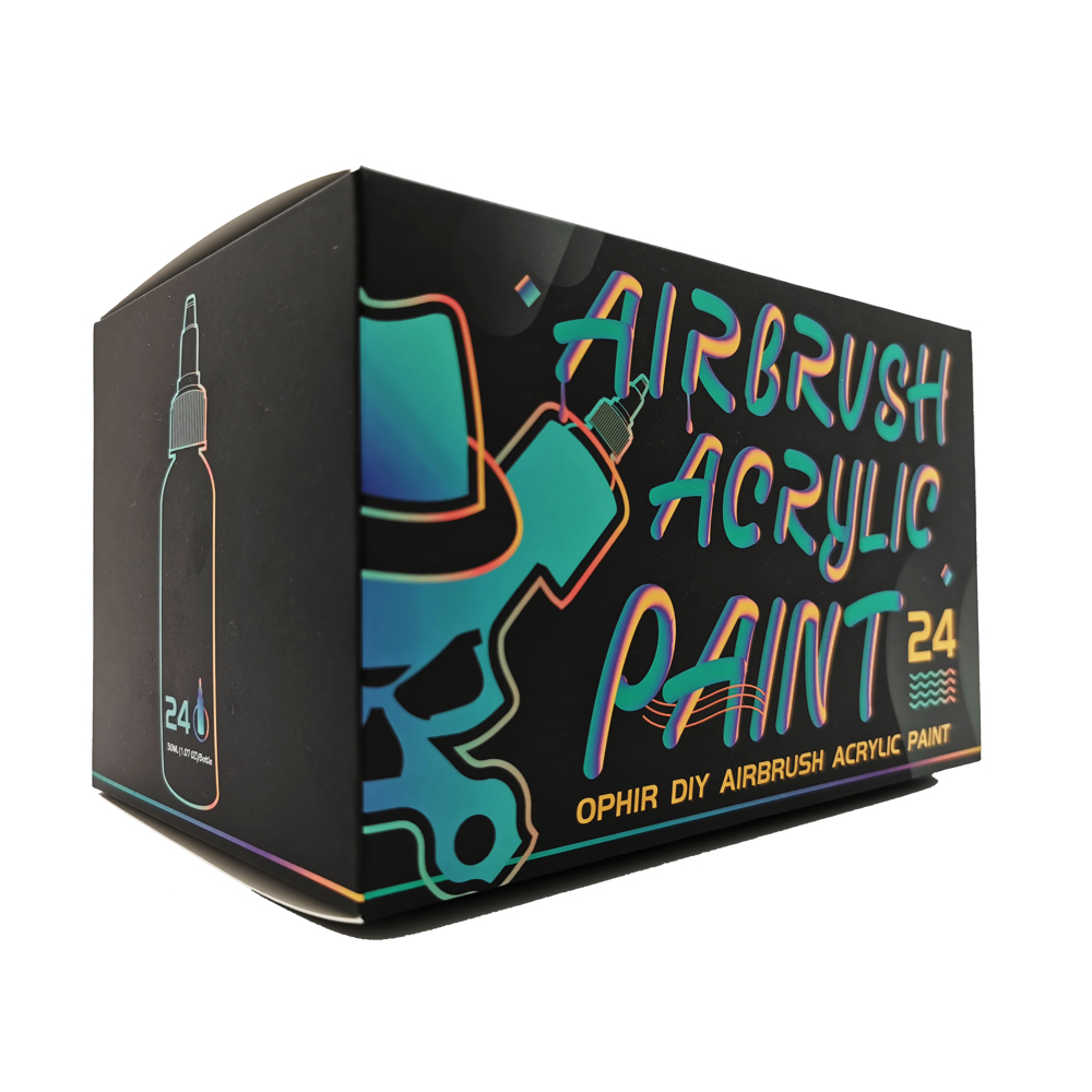 OPHIR Airbrush Acrylic Paint 24 Colors Airbrush DIY Paint for Model Shoes Leather Painting Airbrush DIY Pigment Ink TA005(1 24) - 3