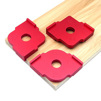 3pcs Wood Trimming Arc Template Aluminum Alloy Table Trimming Bits Engraving Machine Trimmer Jig wood Corner Templates Kit