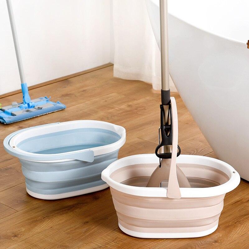 Cubo plegable de mopa para acampada, para pesca, promoción de lavado de coche, para exteriores, cuadrado, para campamento, limpieza de suelo, lavabo plegable
