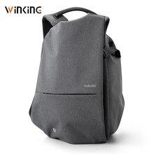 Kingsons mochila masculina impermeável, mochila multifuncional masculina impermeável, antirroubo, entrada para carregador usb, ideal para viagens