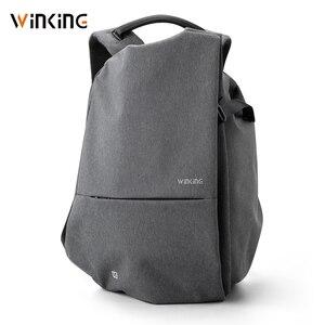 Image 4 - Kingsons yeni stil moda İşlevli erkekler seyahat için USB şarj sırt çantası genç ve erkek su geçirmez anti hırsızlık çanta