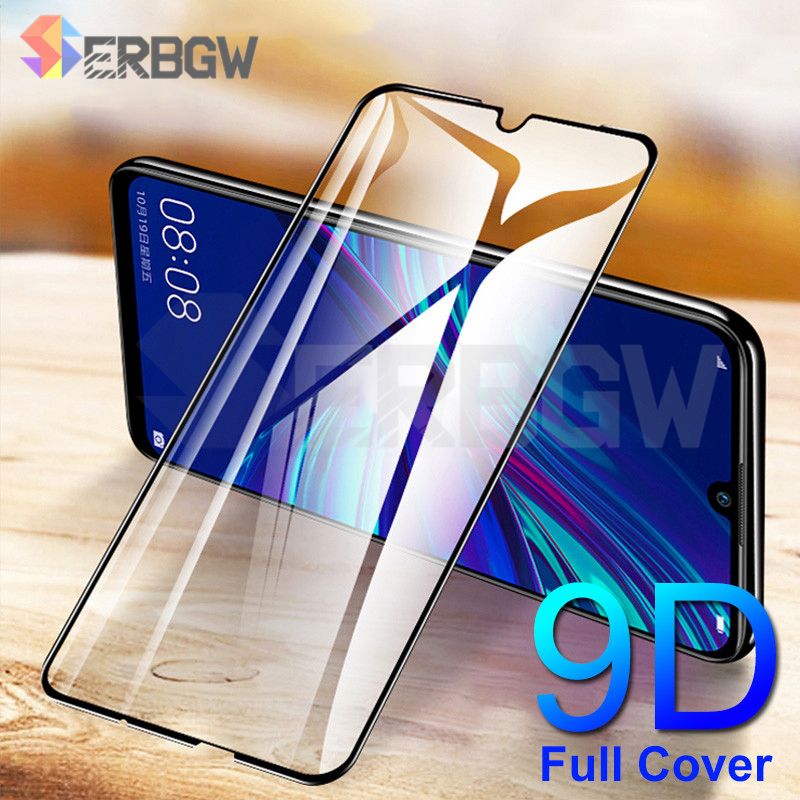 9D Full Cover Tempered Glass For Huawei Y5 Y6 Y7 Prime 2018 Screen Protector Y6 Y7 Pro Y9 2019 Y7S Y5 Lite Protective Glass Film