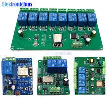 ESP8266 WIFI inalámbrico módulo de relé 1/2/4/8 canal ESP-12F Placa de desarrollo Wifi AC/DC 5V/7-28V/5-80V de suministro de energía para Arduino